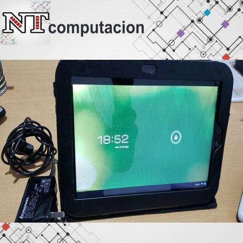 """Tablet Lenovo K1 10"""" en caja con cargador original funda de cuero usada en impecable estado"""