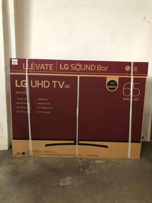 Televisor / SMART TV / LG / 65 / NEGRO / 4K UHD / HDR / CON BARRA DE SONIDO KIT