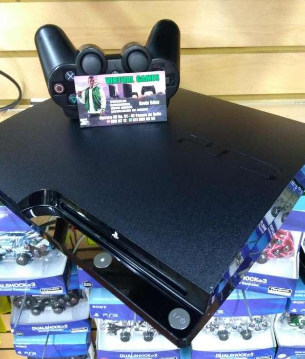 Play Station 3 Slim 250 gb PS3 Con 54 juegos! INCLUYE FIFA 19!!