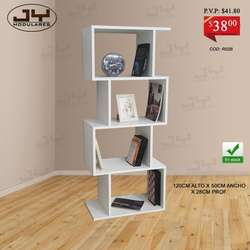 Libreros estantes modernos, desde 38, dif colores, cubos, bibliotecas modulares