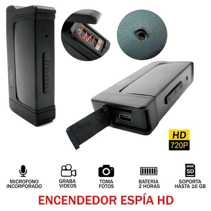 Encendedor Camara Espia Hd 720p 2h Audio Video Oculto 16gb