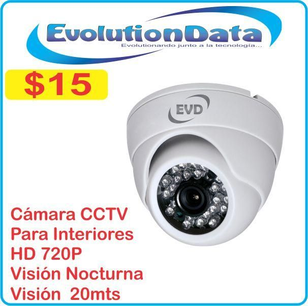 Camara Domo Interiores HD 720P Para CCTV DVR Vision Nocturna