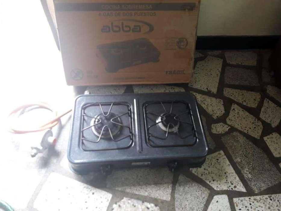 vendo cocina a gas portatil dos hornillas