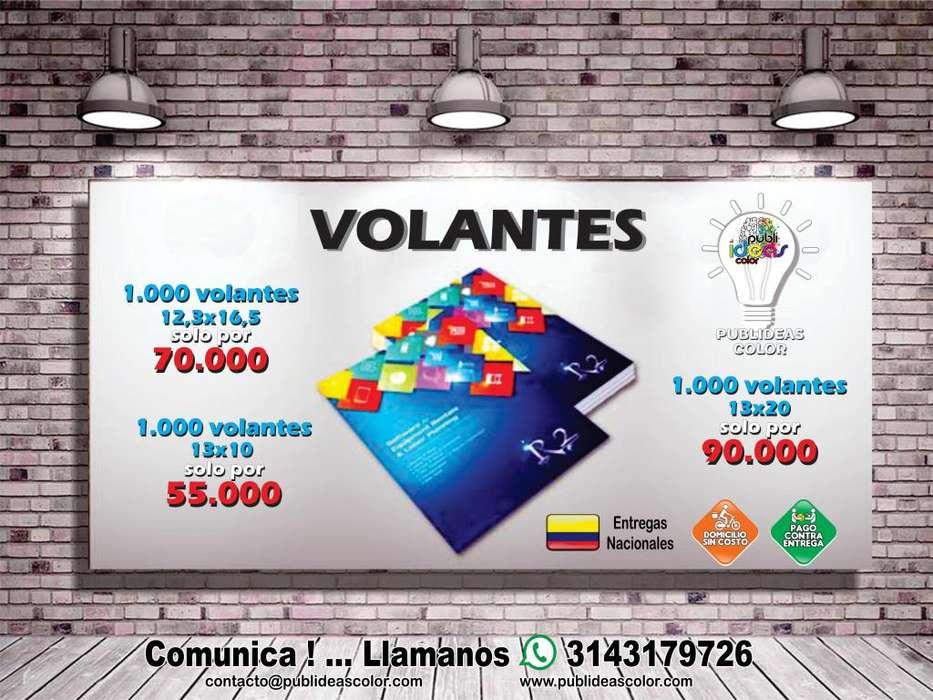 VOLANTES PUBLICITARIOS VARIAS MEDIDAS