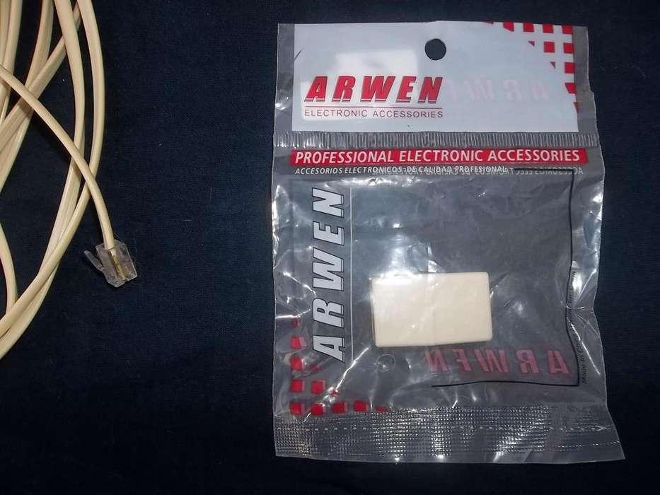combo internet cable para modem telefono