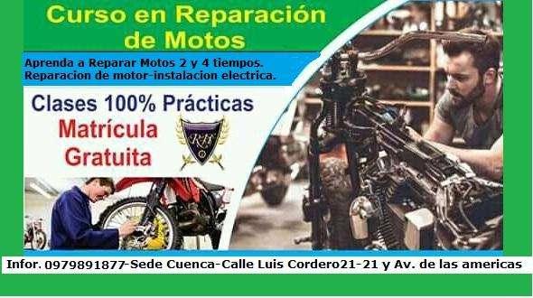 Inscribite en el Mejor Curso de Capacitación en Mecánica y Electricidad para MOTOS en CUENCA