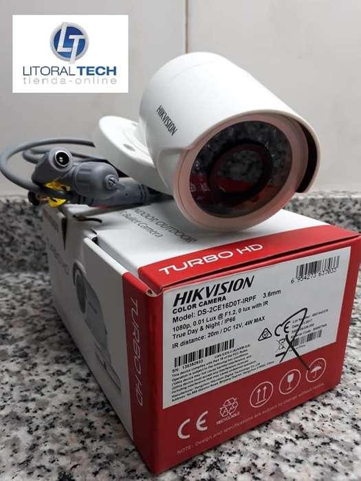 Cámara Hikvision Bullet Plástico, 1080