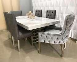 Mesas de comedor con granito , Onix , Mármol. Precios