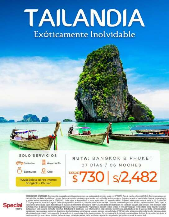 Viaje a Tailandia salida desde Lima oferta única.