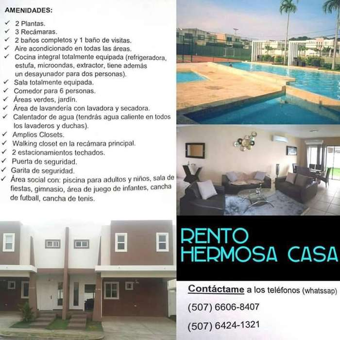 Alquilo Casa en Brisas del Golf PH Everest