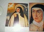 Lote 2 Estampas Religiosas de Santa Teresa Españolas