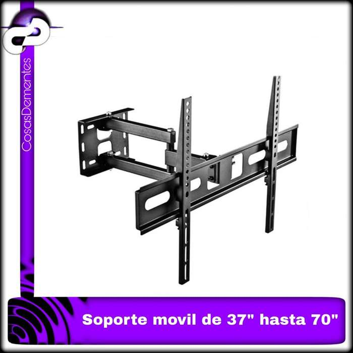 SOPORTE DE TV FULL MOTION, GIRATORIO EXTENSIBLE CON INCLINACIÓN, PARA TVS DE 37 A 70 PULGADAS.