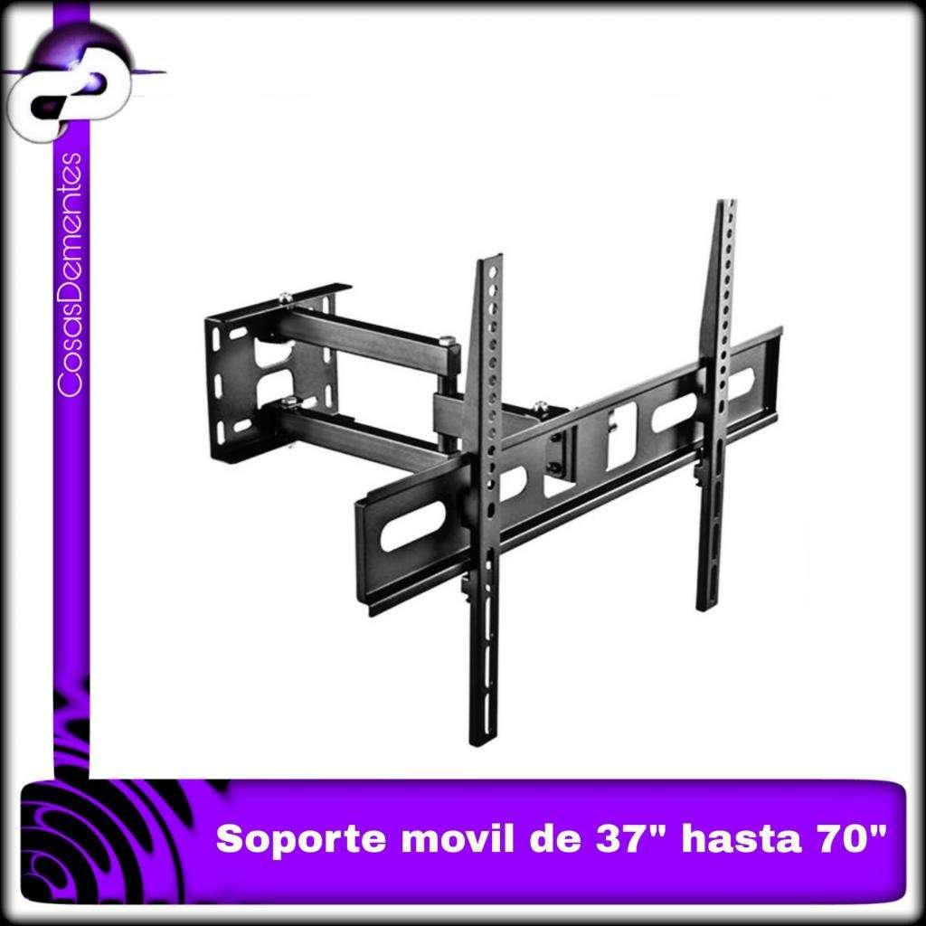 SOPORTE DE TV FULL MOTION, GIRATORIO EXTENSIBLE CON INCLINACIÓN, PARA TVS DE 37 A 70 PULGADAS.