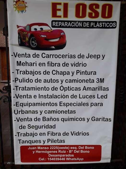 REPARACION DE PARAGOLPES PLASTICOS Y TRABAJOS EN FIBRA DE VIDRIO