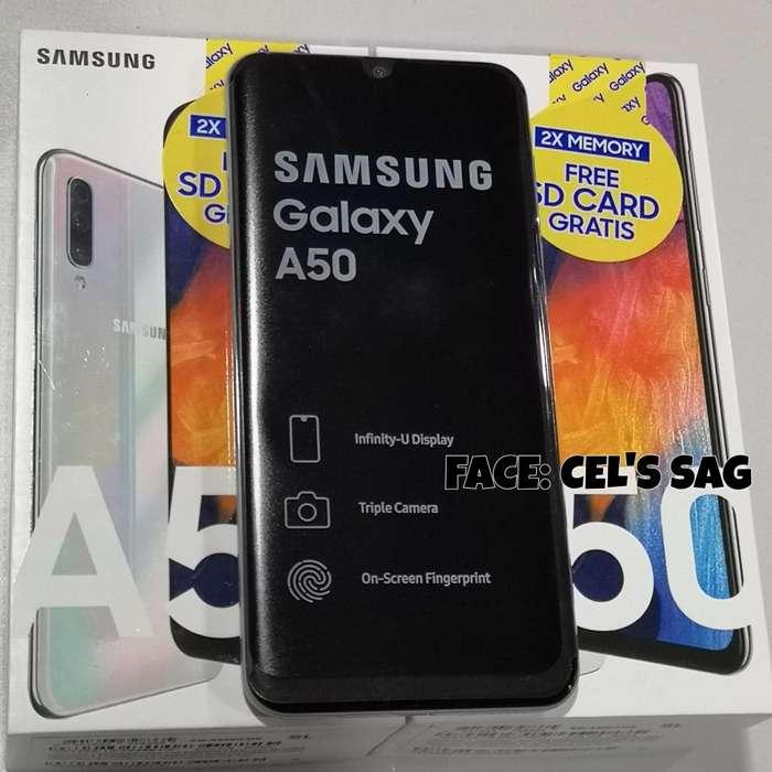 SAMSUNG GALAXY A50 NUEVOS 64GB Y TRIPLE CAMARA. ACEPTO CELULAR Y EFECTIVO.