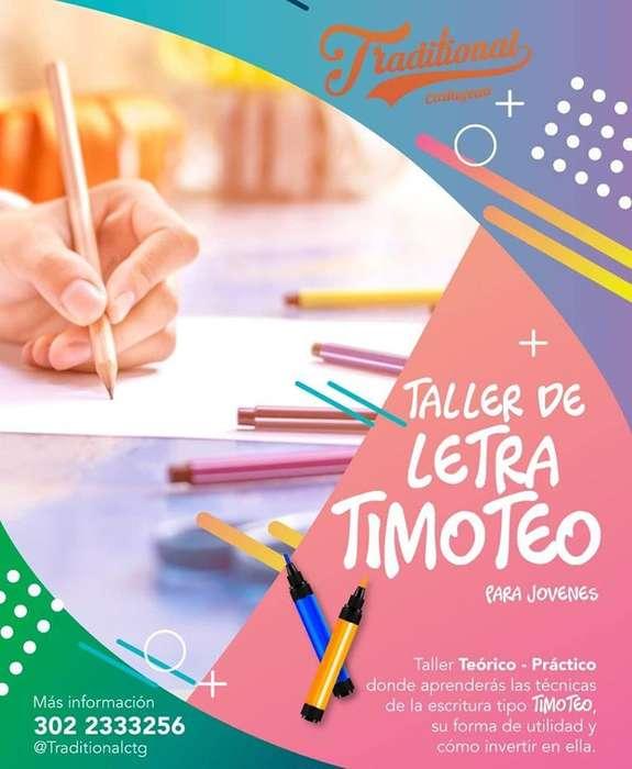 TALLER LETRA TIMOTEO en cartagena