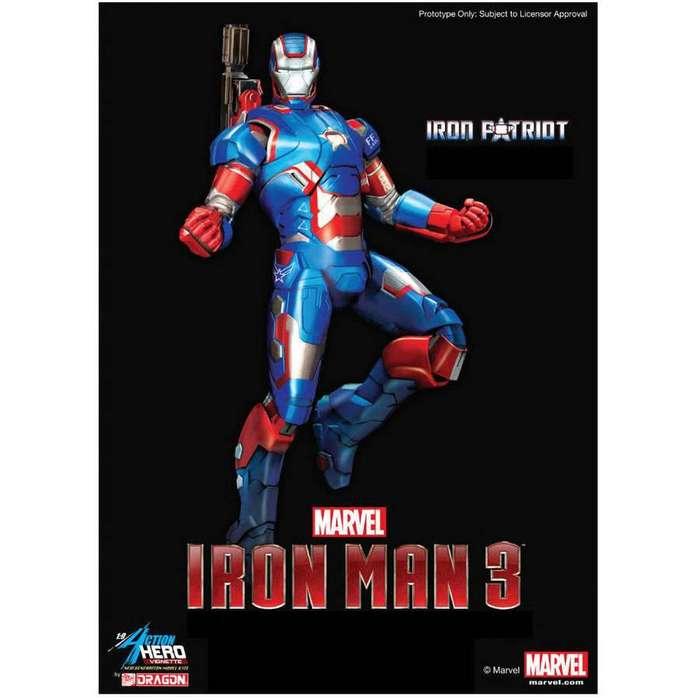Dragon Iron Man 3 armadura Iron Patriot 1/9