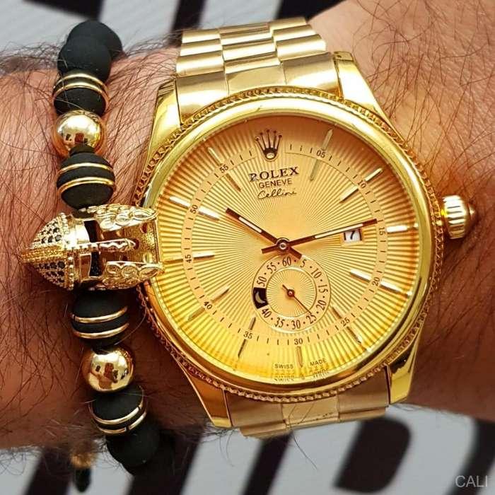 Reloj Rolex en color dorado para hombre