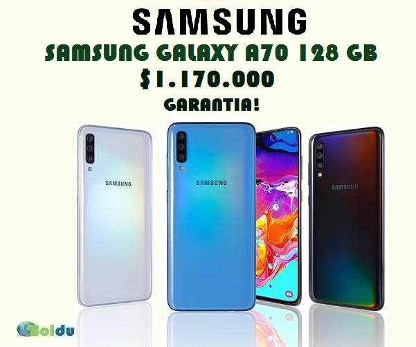 SAMSUNG GALAXY A70 128 GB, NUEVOS, FACTURA, GARANTÍA, DOMICILIO INMEDIATO, TIENDA FÍSICA, BOLDU.