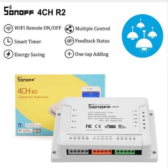 Domotica Sonoff Interruptor WIFI 4 canales