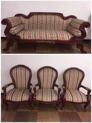 Sala Antigua Isabelina -Sofá y sillas Isabelinas