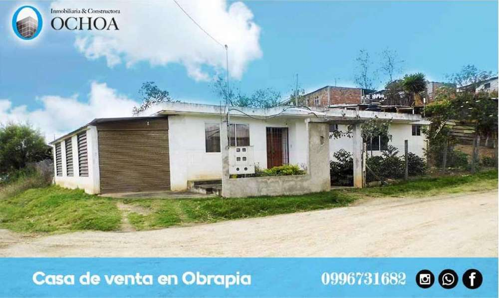 Vendo casa con lote en Obrapia