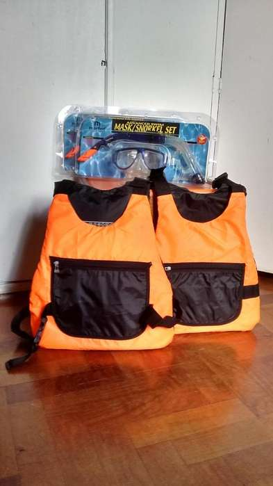 Snorkel chaleco kayak para dos personas