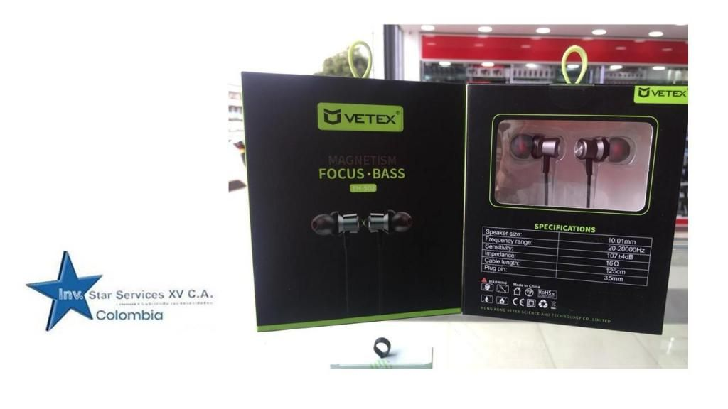 Audifono Auricular Manos Libre Vetex Eh-502 Negro