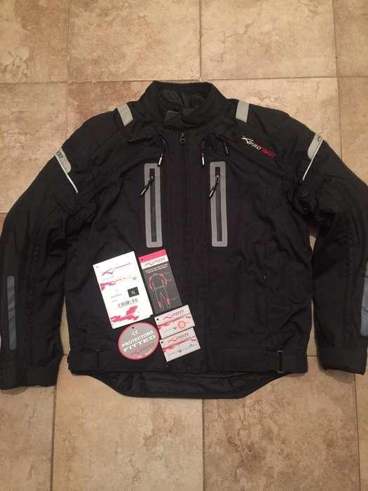 Campera Moto Italiana 4 Capas Y Protec. Xl Nueva