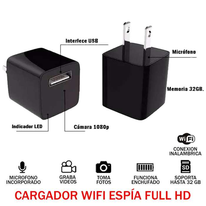 Camara Espia Full Hd 1080p 32gb Audio Y Video Tipo Cargador
