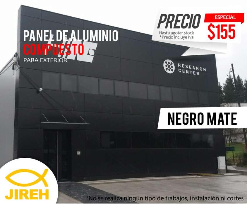 Panel de Aluminio Compuesto para exterior negro Alucobond, Policarbonato, Acrílico, Cielo raso pvc, fachadas