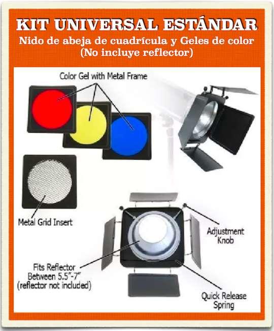 Accesorios para luces de <strong>estudio</strong> Fotográfico