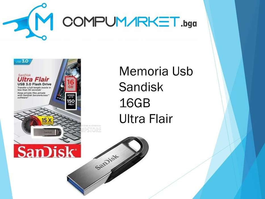 Memoria usb sandisk 16gb ultra flair nuevo y facturado