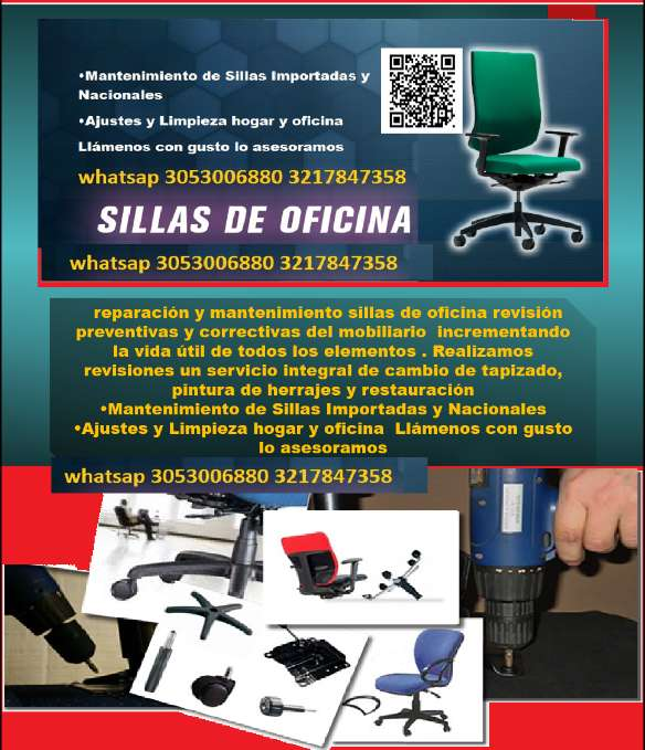 Reparacion sillas oficina Cali - Servicios Cali