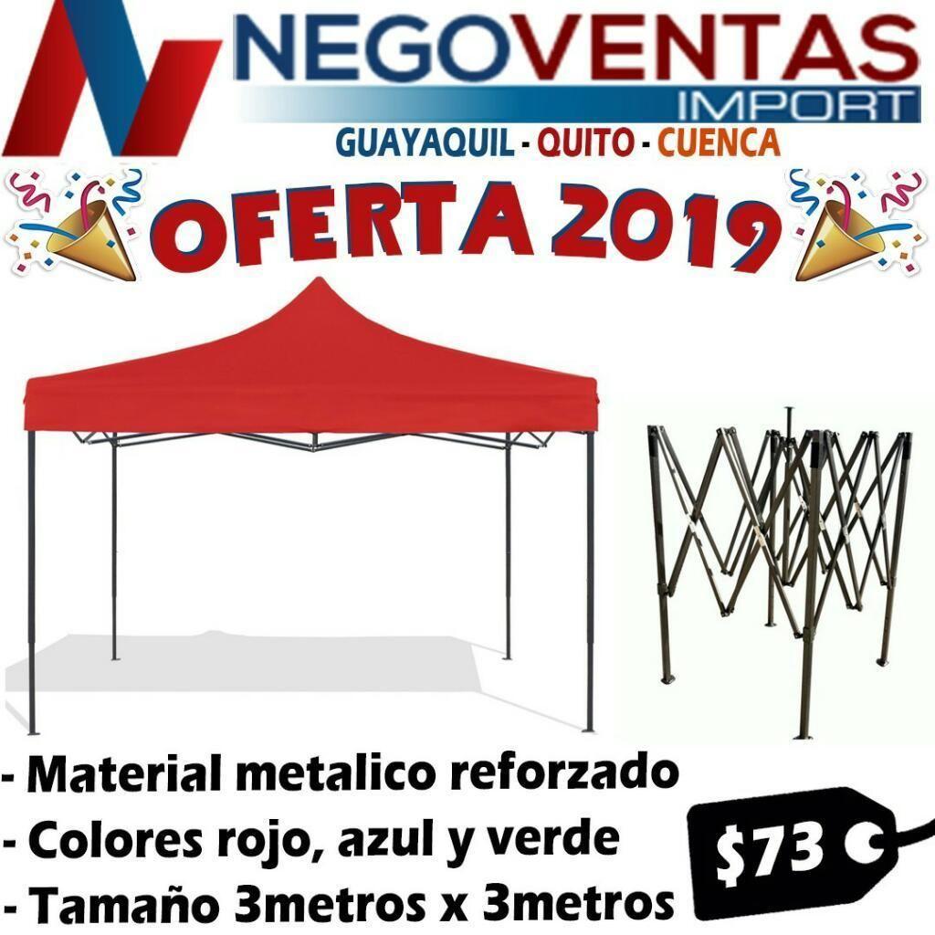 dc9c9860d40 CARPA 3X3 IMPERMEABLE ACORDEÓN ESTRUCTURA METÁLICA - Quito