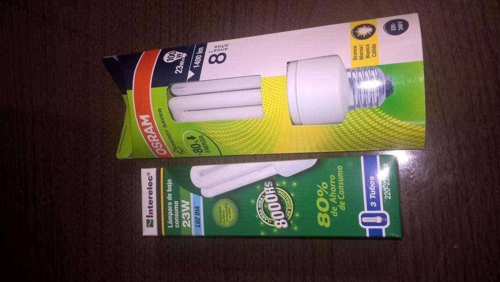 lampara bajo consumo 23w blanco calido