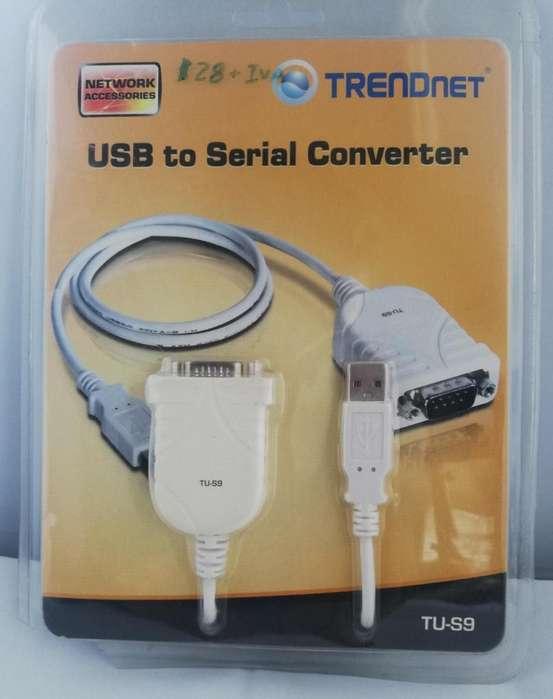 Convertidor Usb A Serie Trendnet Tu-s9tu-s9