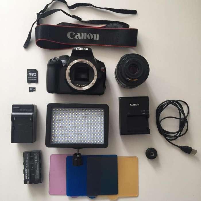 Set de Fotografía: Canon Eos Rebel T3 Luz Led y Accesorios