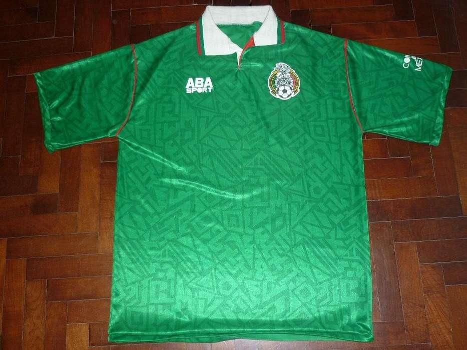 Camiseta De Futbol Seleccion De Mexico Aba Sport 1996/97 talle XL