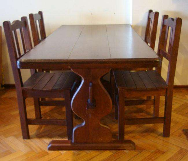 mesa de algarrobo c/s 4 <strong>silla</strong>s