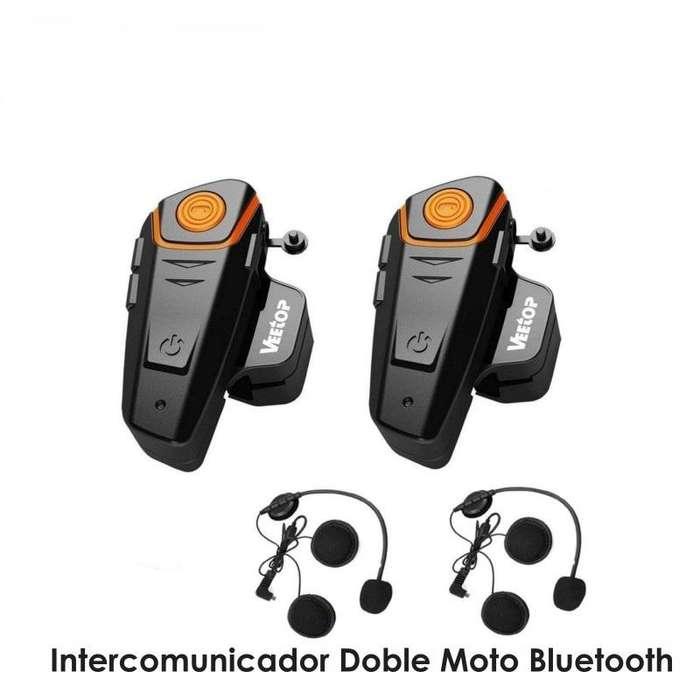 Intercomunicador Doble Moto Bluetooth