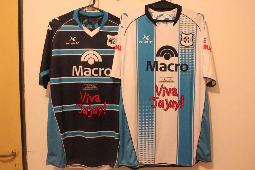 Camisetas Gimnasia de Jujuy. XL. KDY. Nuevas sin uso.