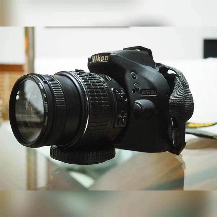 Cámara profesional Nikon 5200 Reflex Digital slr