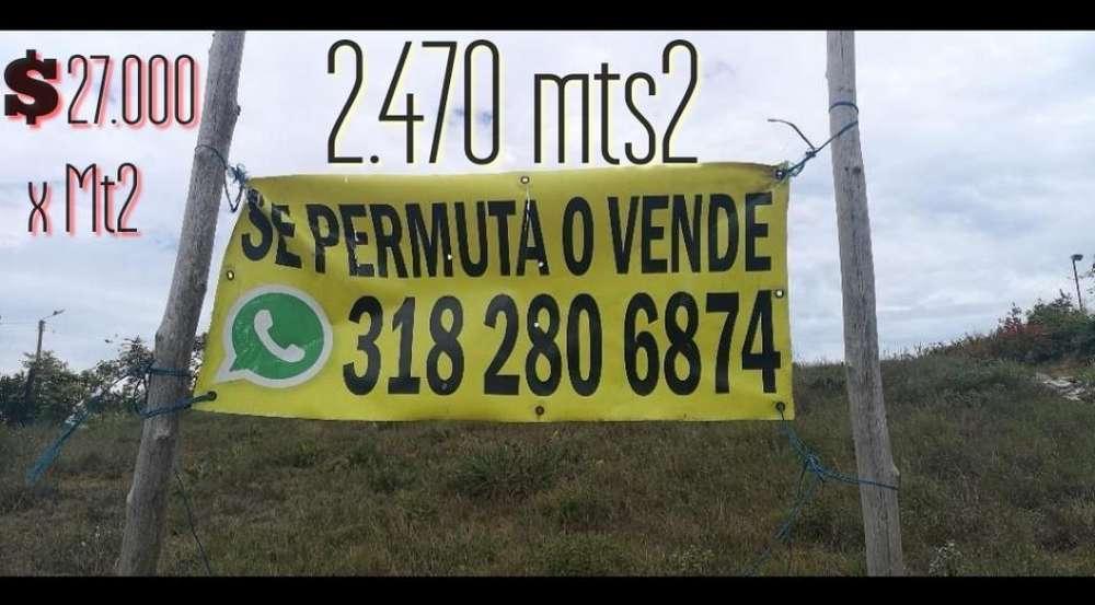 Se Vende Permuta Lote Mesa de Los Santos
