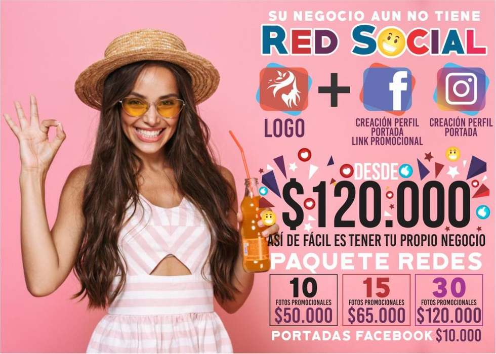 Creación, Diseño y Publicidad De Redes Sociales Facebook, Instagram Logos y Pautas