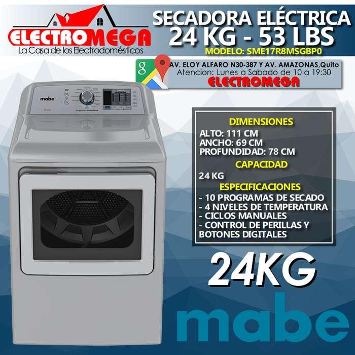 Secadora Electrica 220v Mabe 24kg 53lbs Gris Sme17r8msgbp0