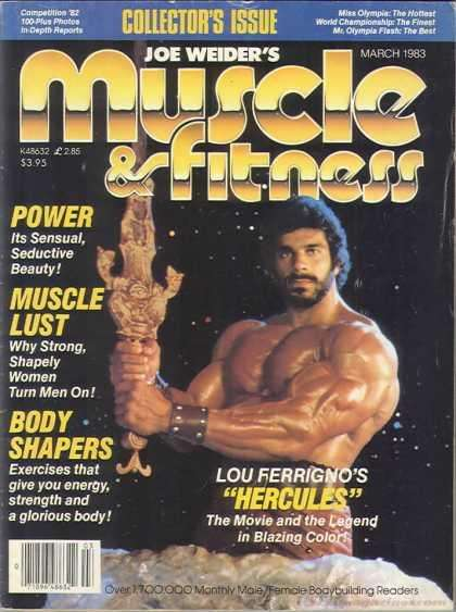 MUSCLE AND FITNESS MAGAZINES