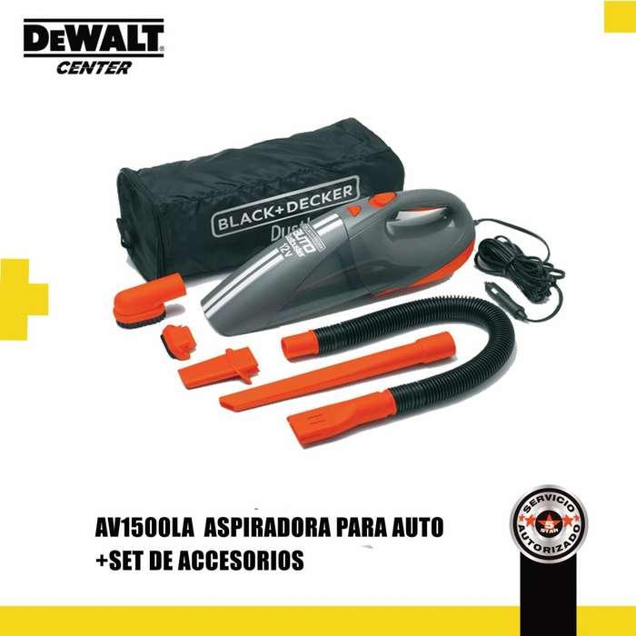 ASPIRADORA DE AUTO MANUAL BLACK AND DECKER AV1500LA NUEVA PRECIO INCLUYE IVA.