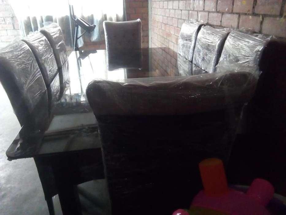 Juego de comedor nuevo 8 sillas