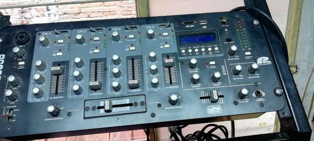 Mezclador Mixer Audio Pro